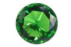 isolerad smaragd Arkivfoto
