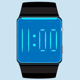 Isolerad smart klocka Arkivbild