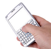 isolerad smartphonewhite Royaltyfri Fotografi