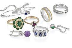 Isolerad smyckengrupp royaltyfri bild