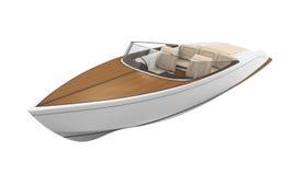 Isolerad snabb motorbåt stock illustrationer