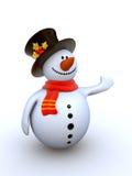 isolerad snowman Royaltyfria Bilder