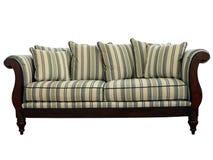 isolerad sofa Fotografering för Bildbyråer