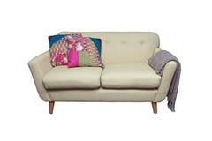 isolerad sofa Arkivbild