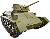 Isolerad sovjetisk ljus behållare T-80 Royaltyfria Foton