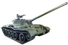 Isolerad sovjetisk medelbehållare T-54 Royaltyfri Fotografi