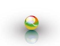 isolerad sphere Arkivbild