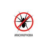 Isolerad spindelvektorlogo Krypillustration arabiska Denna är mappen av formatet EPS10 Royaltyfri Bild