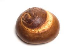 isolerad spiral för bröd challah Arkivfoton
