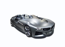 Isolerad sportbil för ny modell Arkivbild
