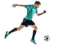 Isolerad spring för man för fotbollspelare Arkivbild