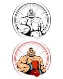 isolerad ståendewhite för bakgrund boxare stock illustrationer