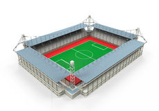 Isolerad stadionbyggnad Fotografering för Bildbyråer