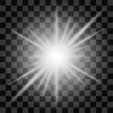 Isolerad starburstmodell på en genomskinlig bakgrund Arkivfoto