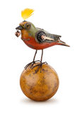 Isolerad Steampunk mekanisk fågel Royaltyfri Foto