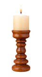 isolerad stearinljusflammahållare Royaltyfri Fotografi
