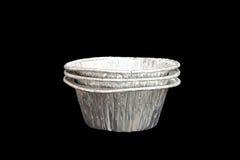 Isolerad stekhet kopp för folie Royaltyfria Bilder