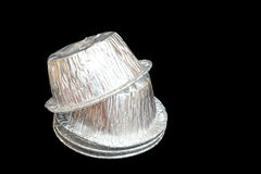 Isolerad stekhet kopp för folie Fotografering för Bildbyråer