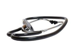 isolerad stetoskopwhite Royaltyfria Foton