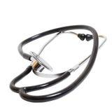 isolerad stetoskopwhite Royaltyfria Bilder