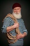 Isolerad stilig sjöman sjöman Arkivfoto