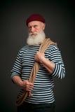 Isolerad stilig sjöman sjöman Arkivfoton