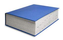 isolerad stor blå bok Royaltyfria Foton