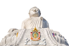 Isolerad stor Buddha Arkivfoton