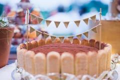 isolerad svampwhite för bakgrund cake Royaltyfri Fotografi