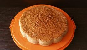 isolerad svampwhite för bakgrund cake Arkivfoton