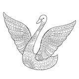 Isolerad svan som dekoreras i bohostil Royaltyfria Bilder