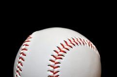 isolerad svart closeup för baseball arkivfoton