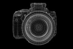 Isolerad svart digital kamera Arkivbilder