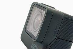 Isolerad svart för GoPro HJÄLTE 6 Royaltyfri Bild