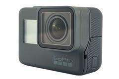Isolerad svart för GoPro HJÄLTE 6 Arkivfoto