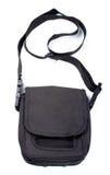 isolerad svart handväska Arkivfoto