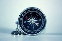 isolerad svart kompass Royaltyfri Bild