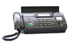 Isolerad svart telefax Fotografering för Bildbyråer