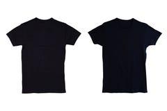 Isolerad svart tshirt fotografering för bildbyråer