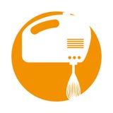 Isolerad symbol för blandare elkraft stock illustrationer
