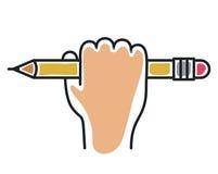 Isolerad symbol för blyertspennahjälpmedel kontor royaltyfri illustrationer