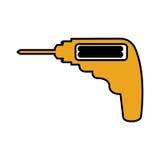 Isolerad symbol för drillborr elkraft stock illustrationer