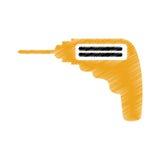 Isolerad symbol för drillborr elkraft vektor illustrationer