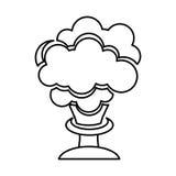 Isolerad symbol för explosion kemikalie royaltyfri illustrationer