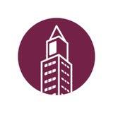 Isolerad symbol för fastighet byggnad Royaltyfri Fotografi
