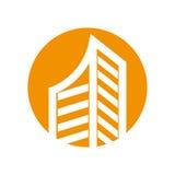 Isolerad symbol för fastighet byggnad Arkivbilder