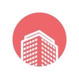 Isolerad symbol för fastighet byggnad Arkivfoton