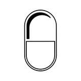 Isolerad symbol för kapsel drog vektor illustrationer