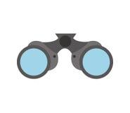 Isolerad symbol för kikare apparat stock illustrationer