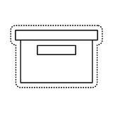 isolerad symbol för kontorsemballageask Arkivbilder